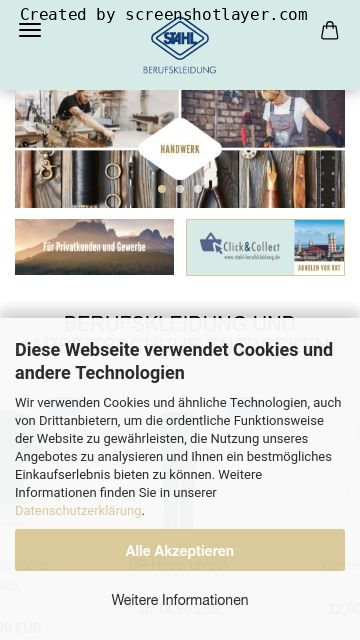 Firmenlogo vom Unternehmen Stahl Berufskleidung GmbH aus München