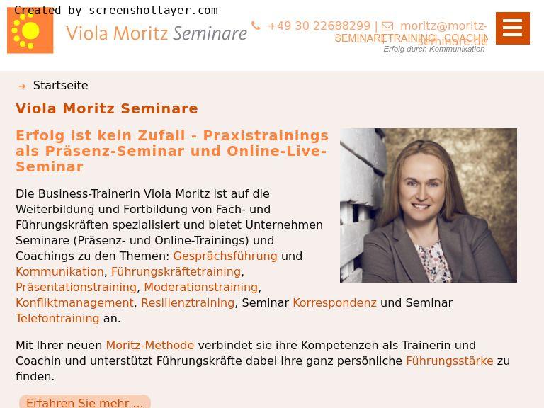 Firmenlogo vom Unternehmen Viola Moritz Seminare aus Berlin