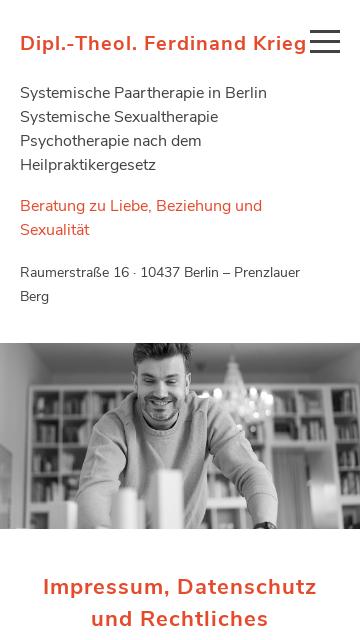 Firmenlogo vom Unternehmen Ferdinand Krieg, Heilpraktiker beschränkt auf das Gebiet der Psy aus Ber
