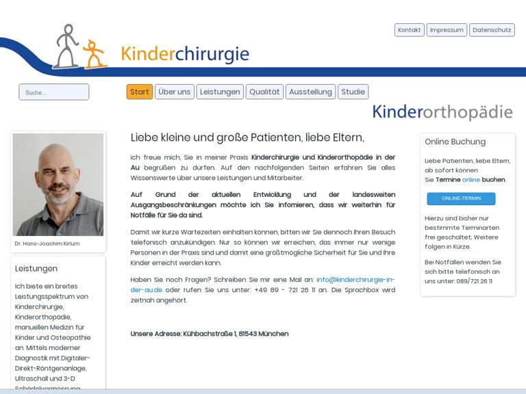 Firmenlogo vom Unternehmen Kinderchirurgie in der Au aus München