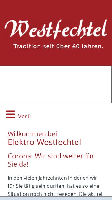 Firmenlogo Elektro Westfechtel GmbH, Dissen am Teutoburger Wald