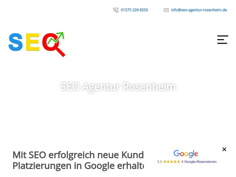 Firmenlogo vom Unternehmen SEO Agentur Rosenheim aus Rosenheim