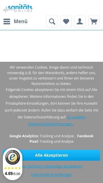 Firmenlogo vom Unternehmen Sanitäts Online aus Wesel