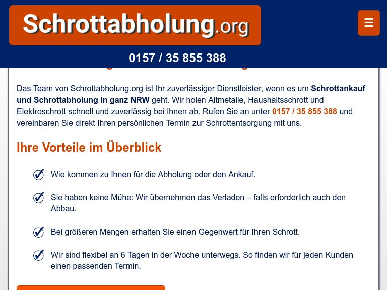 Firmenlogo vom Unternehmen Schrottabholung.org aus Bochum