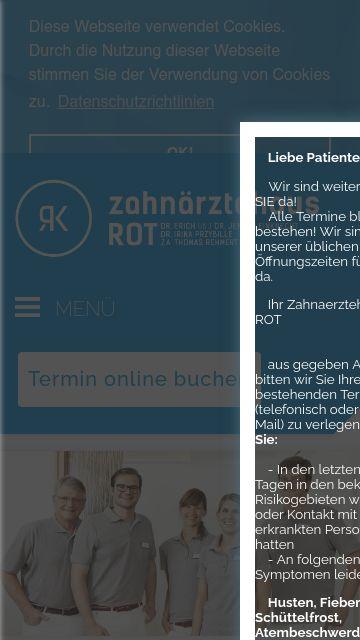 Firmenlogo vom Unternehmen zahnärztehaus ROT aus Stuttgart