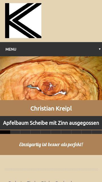 Firmenlogo vom Unternehmen Christian Kreipl - Heimische Hölzer für Designarbeiten aus Oberpöring