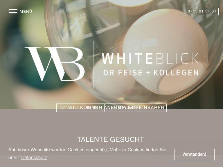 Firmenlogo vom Unternehmen WHITEBLICK Dr. Feise + Kollegen aus Stuttgart