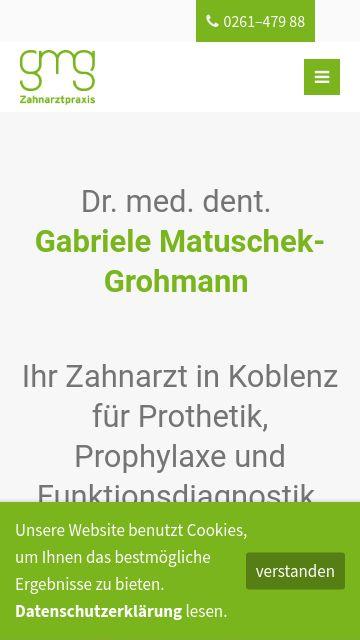 Firmenlogo vom Unternehmen Zahnarztpraxis Dr. med. dent. Gabriele Matuschek-Grohmann aus Koblenz