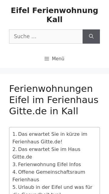 Firmenlogo vom Unternehmen Ferienwohnung Eifel Gitte.de aus Kall