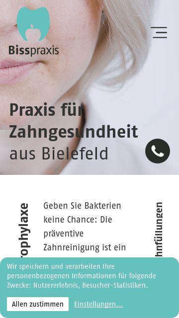 Firmenlogo vom Unternehmen Bisspraxis - Praxis für Zahnmedizin aus Bielefeld