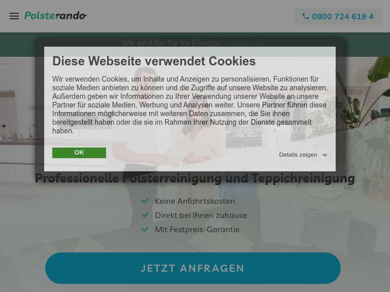 Firmenlogo vom Unternehmen Polsterando aus Berlin