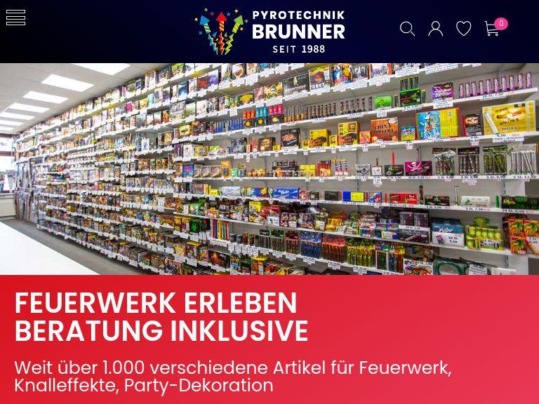 Firmenlogo vom Unternehmen Pyrotechnik Brunner Feuerwerk - Signalmunition aus Sachsenheim