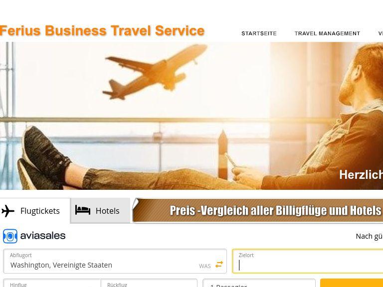 Firmenlogo vom Unternehmen Ferius Business Travel Service aus Düsseldorf
