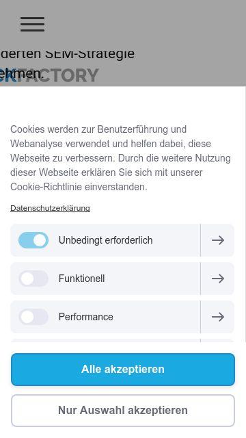 Firmenlogo vom Unternehmen Clickfactory aus Stuttgart