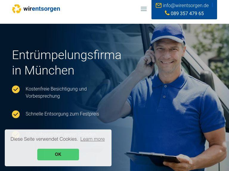 Firmenlogo vom Unternehmen WirEntsorgen Entrümpelung München aus München