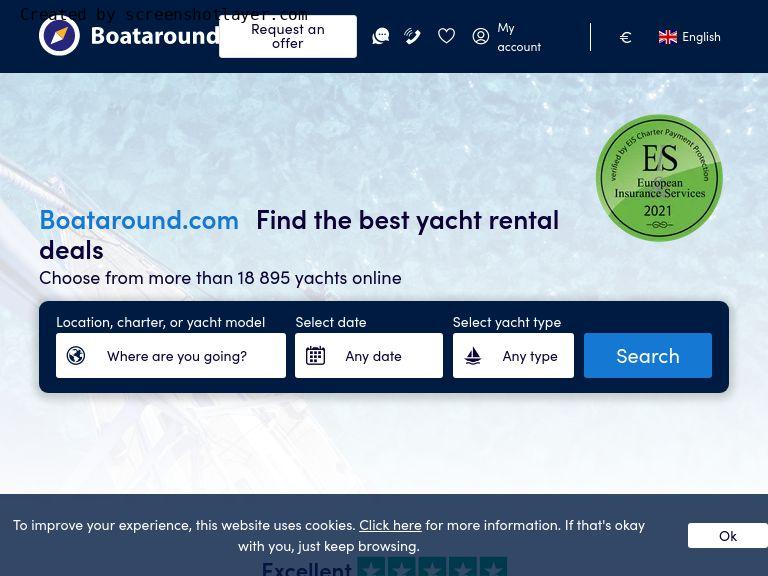 Firmenlogo vom Unternehmen Boataround.com aus Berlin