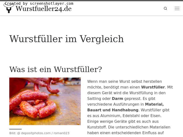 Firmenlogo vom Unternehmen Wurstfueller24 aus Oberhof
