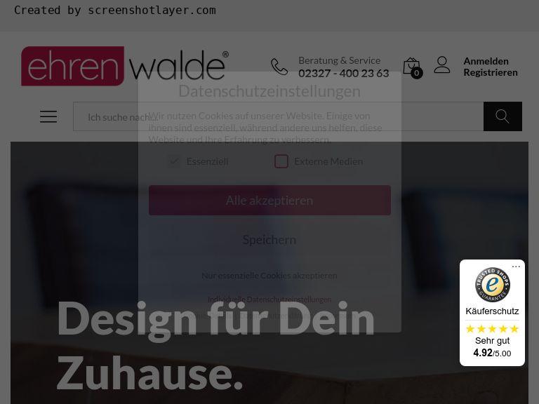 Firmenlogo vom Unternehmen ehrenwalde® Möbel Manufaktur & Versandhaus aus Bochum