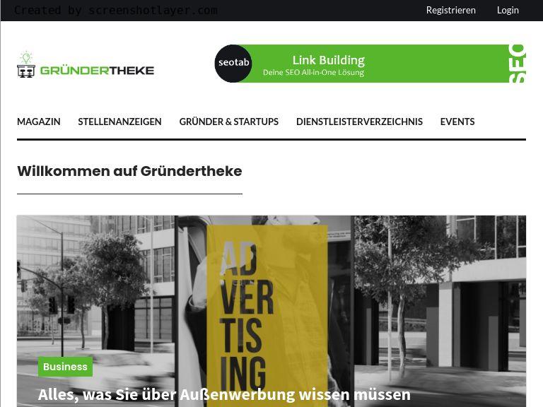 Firmenlogo vom Unternehmen Gründertheke aus Düsseldorf