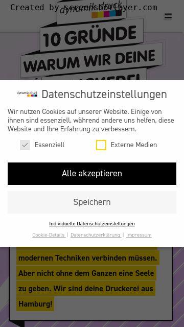 Firmenlogo vom Unternehmen Dynamik Druck GmbH aus Hamburg