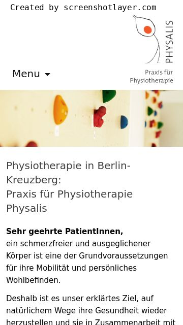 Firmenlogo vom Unternehmen Physiotherapie in Kreuzberg Physalis aus Berlin Kreuzberg