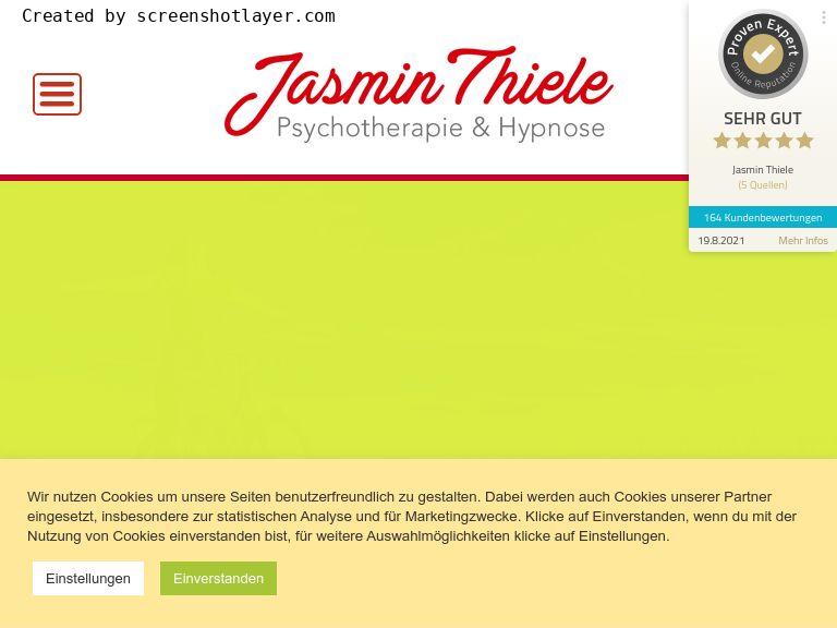 Firmenlogo vom Unternehmen Jasmin Thiele - Psychotherapie & Hypnose Hannover aus Hannover
