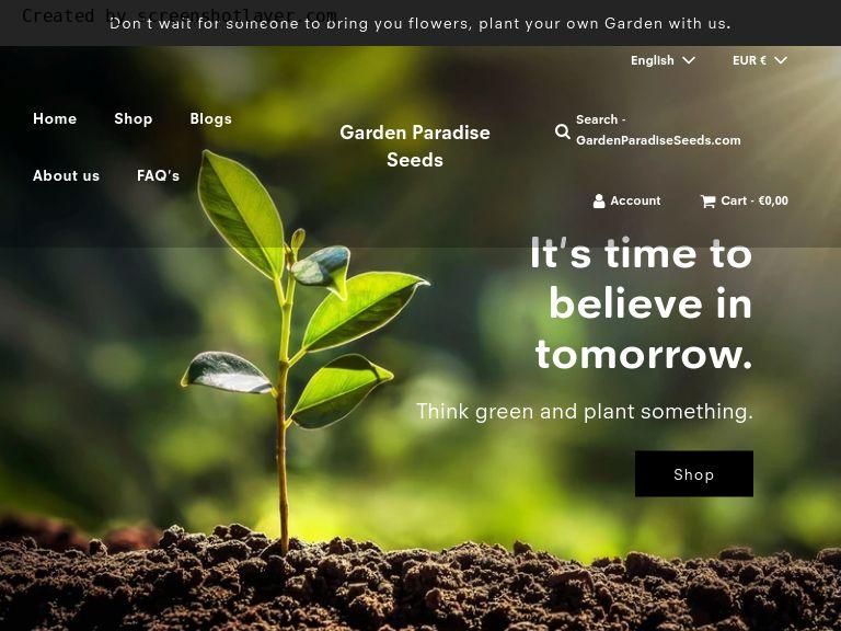 Garden Paradise Seeds aus Dundalk