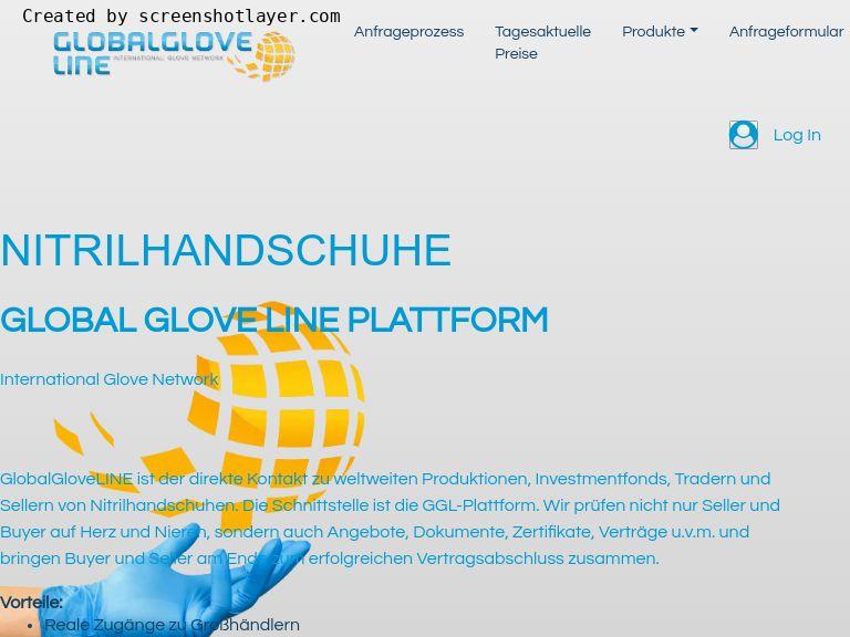 Firmenlogo vom Unternehmen Global Glove Line aus Wien